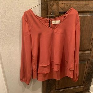 Abercrombie & Fitch Burnt Orange Blouse